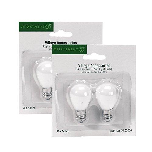 Department 56 Village Lights Replacement 3 Volt Light Bulbs Set Of 4