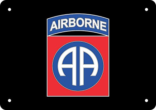 Emblem Metal Sign - 10in x 7in 82nd Airborne Sign Aluminum Metal Signs Flag Emblem Symbol by StickerTalk