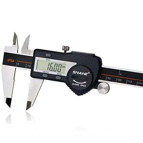 SHAHE Stainless Steel 0-150mm Digital Caliper Vernier Micrometer Internal Dimension/External Dimension/Step/Depth Measuring