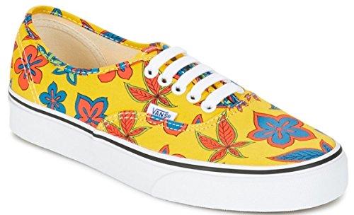 Vans Authentic Gelb Floral Frauen Leinwand Skate Trainers Schuhe