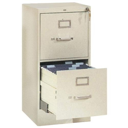 Hon 310 Series Two-Drawer, Full-Suspension File, Legal, 26-1/2d, Light Gray (HON312CPQ) Category: Metal Vertical File Cabinets