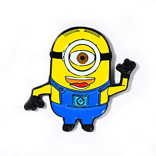 Despicable Me Minions Stuart Minion Collectible Pendant Lapel Hat -