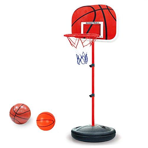 PELLOR Canasta Aro de Baloncesto Ajustable,150CM/170CM Aro de Blaconcesto con Balancesto para Ninos y Infantils
