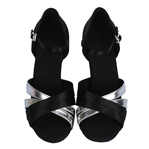 de Zapatos Plateado 4070 Latinos Zapatos Mujeres de ES HROYL Satén Baile w1dqw7