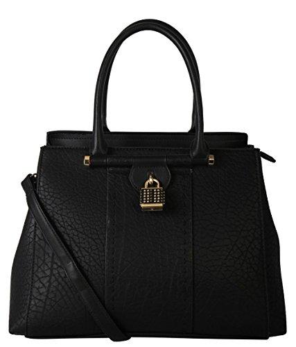 diophy-pu-leather-medium-studded-lock-large-docor-tote-womens-purse-handbag-black