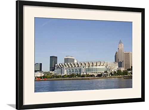 ArtEdge Cleveland Browns Stadium and City Skyline, Ohio, USA Photographic Print Framed, 31