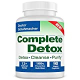 Longevity Complete Detox [New Formula] - Rapid Whole Body Detox - 10 + Natural Herbs - Scientifically formulated & Most Recommended for Detox - 90 Capsules