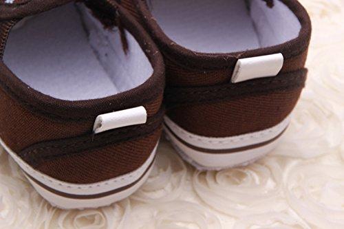 YICHUN bebé zapatos de Premier Pas–Zapatos de ocio zapatos flexibles azulejo marrón Marron+Kaki Talla:Longueur de Semelle:12CM Marron+Kaki