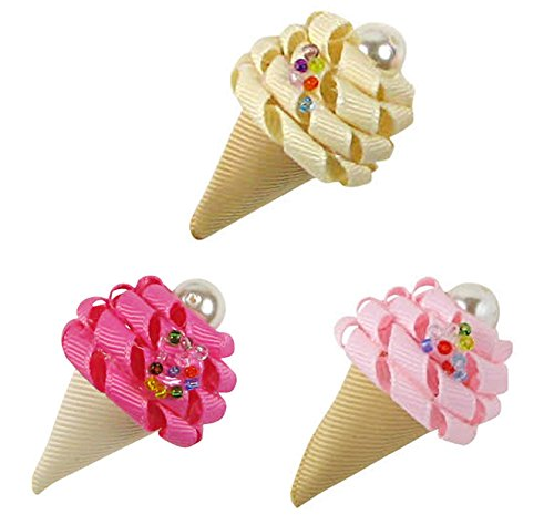 HipGirl Appliques, Flower and Embellishment for Your DIY projects (3x5pc Ice Creem (Leopard Child 5pc Costumes)