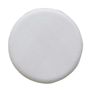 Freahap R – Funda de taburete redonda para proteger taburete de bar, de poliuretano, 3 tamaños, 9 colores, blanco, 40 cm