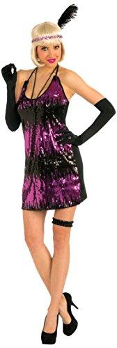 Forum Novelties Women's Roaring 20's Sassy In Sequins Costume Flapper Dress