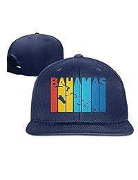 An Ping Bahamas Retro 1970's Style Baseball Caps Men Women Flat Brim Snapback Hats