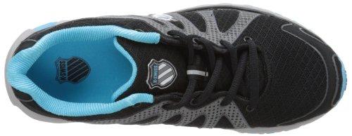 K-Swiss Women's Tubes Run 130 Running Shoe,Black/Fiji Blue,6.5 M US