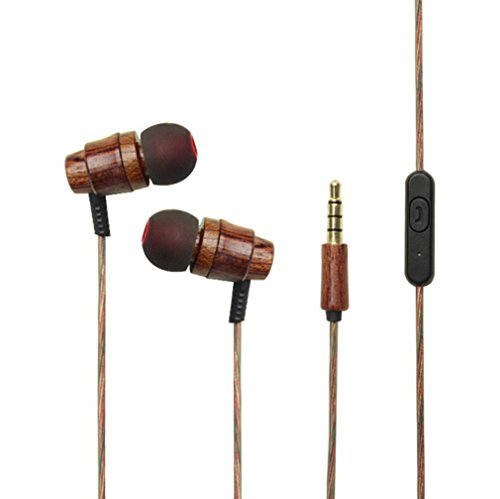 YS-11 woodiness Earbuds In-Ear Metal Earphones Stereo Bass 3.5mm - Aurora In Malls Outlet