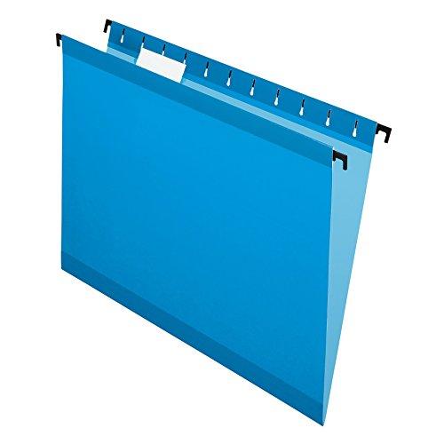 Pendaflex SureHook Reinforced Hanging Folders, Letter Size, Blue, 20 per Box (6152 1/5 BLU)