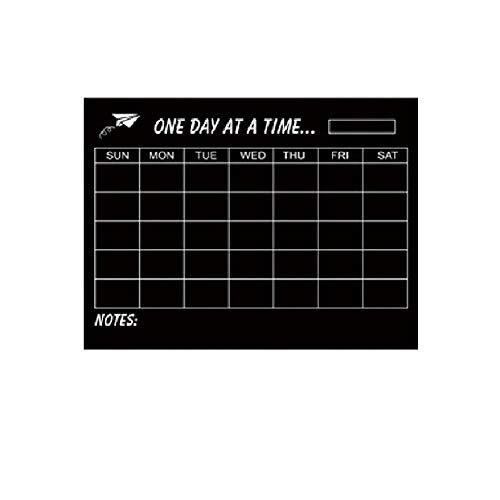 EMOGA Calendario Pizarra Grande y Borrable con Calcomanía para Pared para Oficina, hogar, Aula, refrigerador, 45cm * 60cm