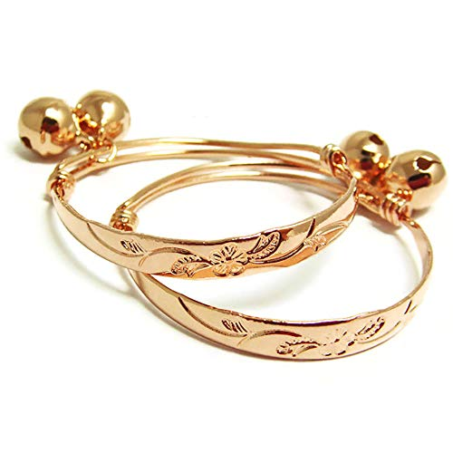 Flower 22k 23k 24k Thai Baht Pink Gold Plated Anklet for sale  Delivered anywhere in USA