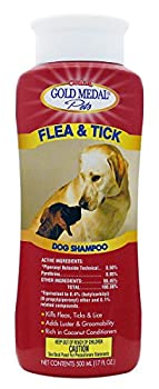 An insecticidal aid, Flea & Tick Shampoo is highly effective at eliminating fleas, ticks, and lice while at the same time adding shine and luster to the coat.