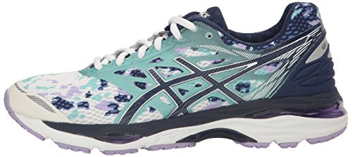 Pictures of ASICS Women's Gel-Cumulus 18 running Shoe Asics Blue/Silver/Safety Yellow 5