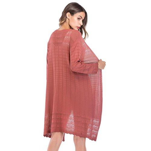FANOUD Women's Loose Gradient Solid Knit Tassel Cardigan Retro Long Sleeve Coat by FANOUD (Image #3)