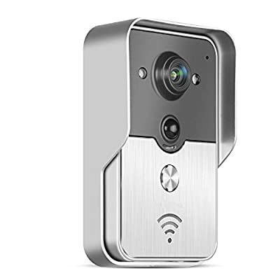 Flourishing Banyan® for Mobile Phone and iPad APP Wireless Wifi Door Camera Monitor Digital Peephole Viewer Wifi Doorbell Intercom with PIR Sensor Photo Vedio Talk Call Support iOS, Android