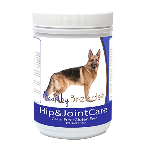 Healthy Breeds Glucosamine Chondroitin MSM Support for Dogs for German Shepherd, Side View - Over 200 Breeds - Bacon Flavor - Gluten & Grain Free - Easier Than Liquid or Pills - 120 Chews