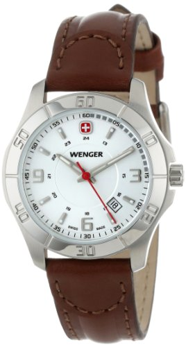 Wenger Women's 70490 Alpine White Dial Brown Leather Watch (Quartz White Leather)