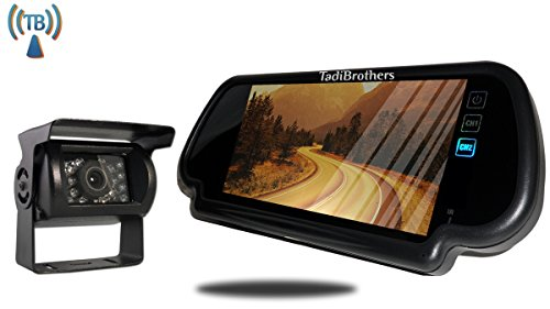 TadiBrothers 7 Inch Mirror with Wireless 120 Degree RV Backup - Mirror Backup Tadibrothers Camera