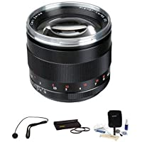 Zeiss 85mm f/1.4 Planar T* ZE Series Lens Kit, for Canon EOS Cameras with Tiffen 72mm Photo Essentials Filter Kit, Lens Cap Leash, Professional Lens Cleaning Kit,
