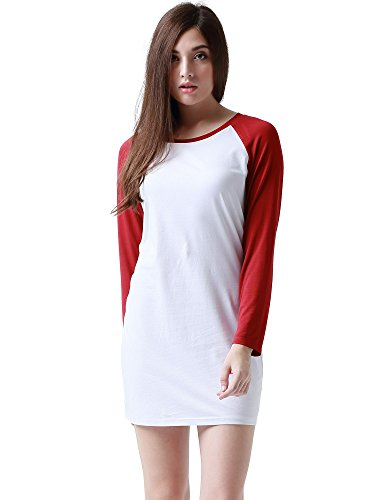 HuHot Womens Contrast Sleeves T Shirt product image
