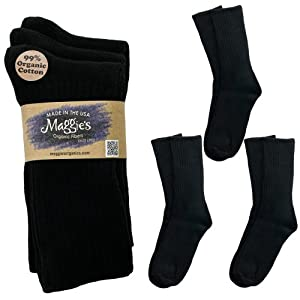 Maggie's Organic Cotton Crew Sock Tri-pack