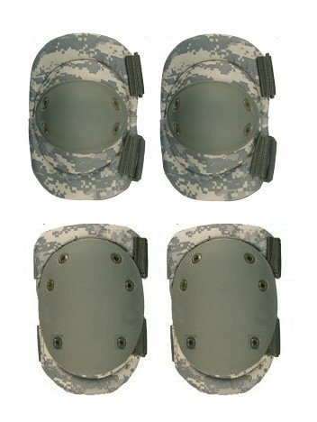 Acu Elbow Pads - Ultimate Arms Gear Tactical Set Of ACU Army Digital Camo Camouflage High Impact Protective Gear Package - Pair Of Knee And Elbow Pads