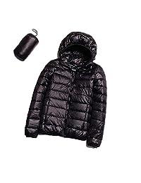 Women's Lightweight Packable Down Jacket, S.Charma Oversize Short Prymo Coat Hooded