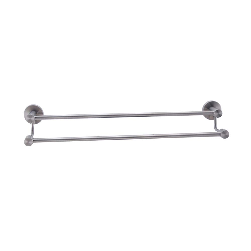 KES Bathroom Lavatory Double Towel Bar Wall Mount, Brushed SUS304 Stainless Steel, A2103S60-2 by Kes