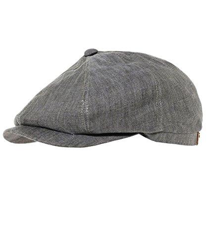 Stetson Men's Linen Hatteras Newsboy Cap 61cm ()