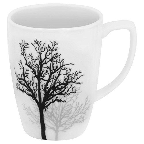 Corelle Square 12-oz Porcelain Mug, Timber Shadows (SET OF - Square Mug Oz 12 Corelle