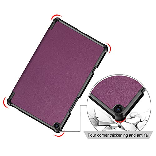 for Xiaomi Mi Pad 4 Plus Case, fitmore Ultra Slim Leather Folio Case Cover with Card Slots Shockproof Protective Tablet Case (Purple)
