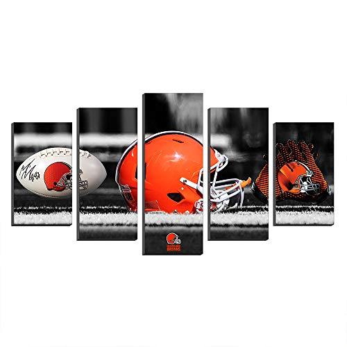 Super Bowl Cleveland Browns Football Logo NFL Football Paintings Canvas Prints Picture Wall Art Poster Artwork Home Decor