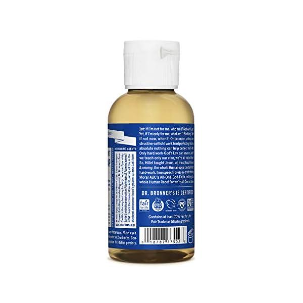 Dr. Bronner's Organic Peppermint Pure-Castile Liquid Soap, 59 ml