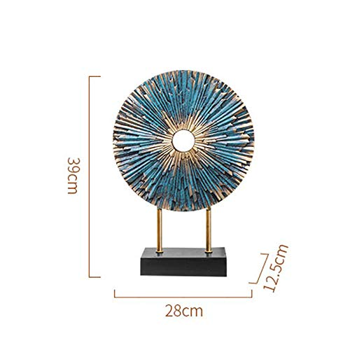 Home Decoration, Hand-Painted Resin Crafts Peacock Ornaments Sculpture Living Room Decorations Nordic Decorative Wine Cabinet Home (Color : 5) by None (Image #3)