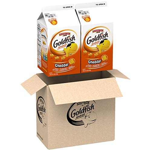 Pepperidge Farm Goldfish Cheddar Crackers, 60 oz. Box, 2-count 30 oz. Cartons