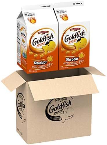 Pepperidge Farm Goldfish Cheddar Crackers, 60 oz. Box, 2-count 30 oz. Cartons