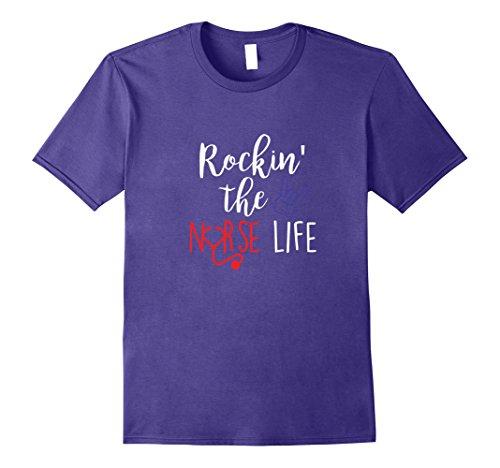 [Mens Rockin' The Nurse Life 2XL Purple] (Psych Nurse Costume)