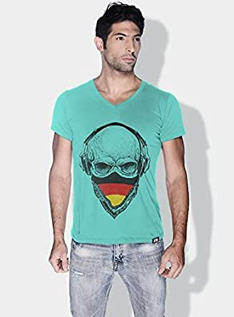 Creo Germany Skull T-Shirts For Men - S, Green