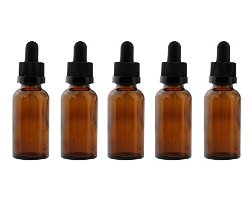Wowlife Amber Glass Dropper Bottles for Essential Oils/Perfume Refillable Empty Amber Bottle DIY Blends Glass ()