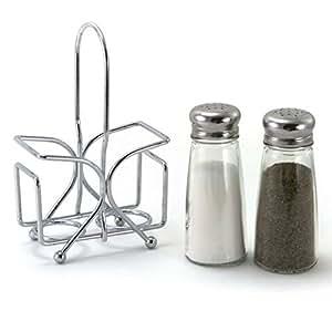 Salt And Pepper Shaker Set With Rack Kitchen
