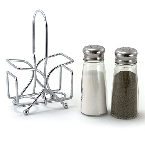(Salt and Pepper Shaker Set with Rack)
