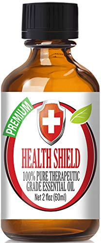 Health Shield 100% Pure, Best Therapeutic Grade Essential Oil - 60ml - Cassia, Clove, Eucalyptus,Lemon, and Rosemary