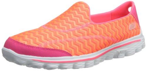 Skechers Performance Mujeres Go Walk 2 Zapato Para Caminar Chevron Hot Pink / Naranja