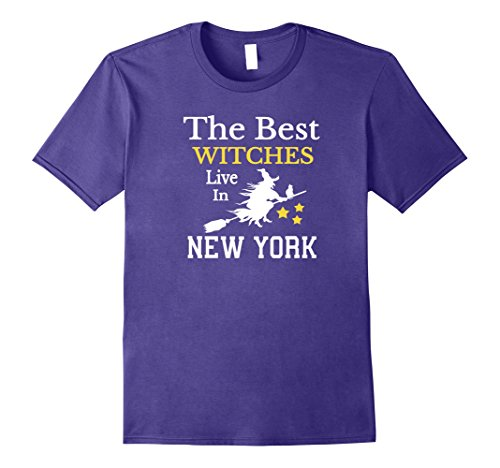 Mens The Best Witches Live in New York Halloween Shirt Large (Best Halloween Costumes New York City)